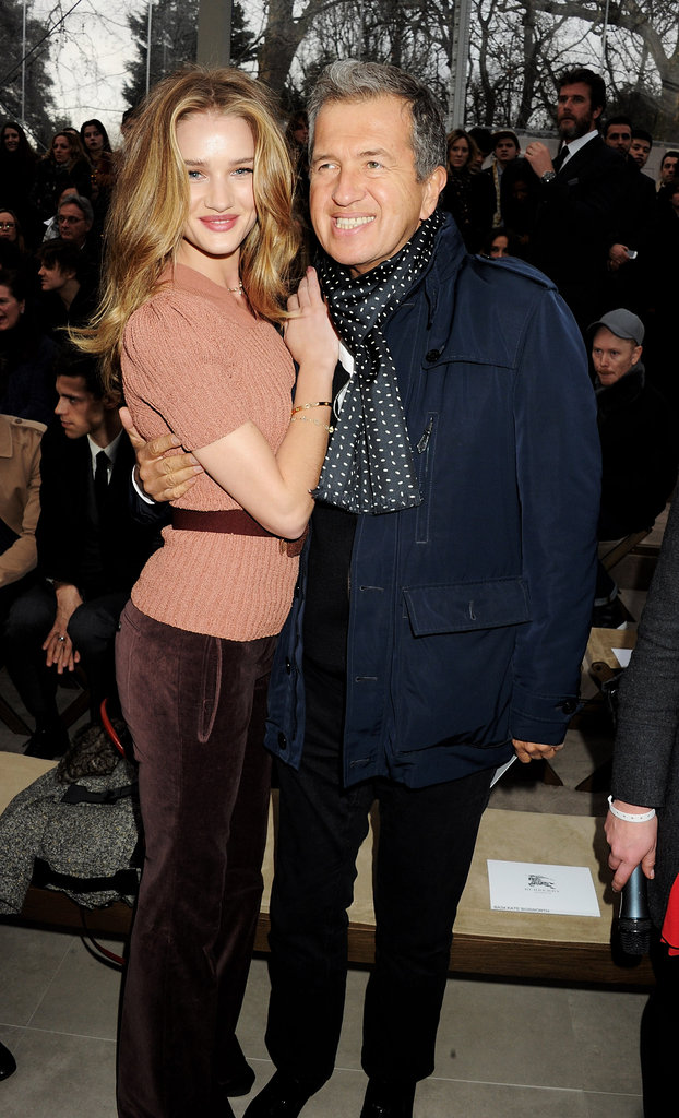 Rosie Huntington-Whiteley posed alongside Mario Testino at Burberry.
