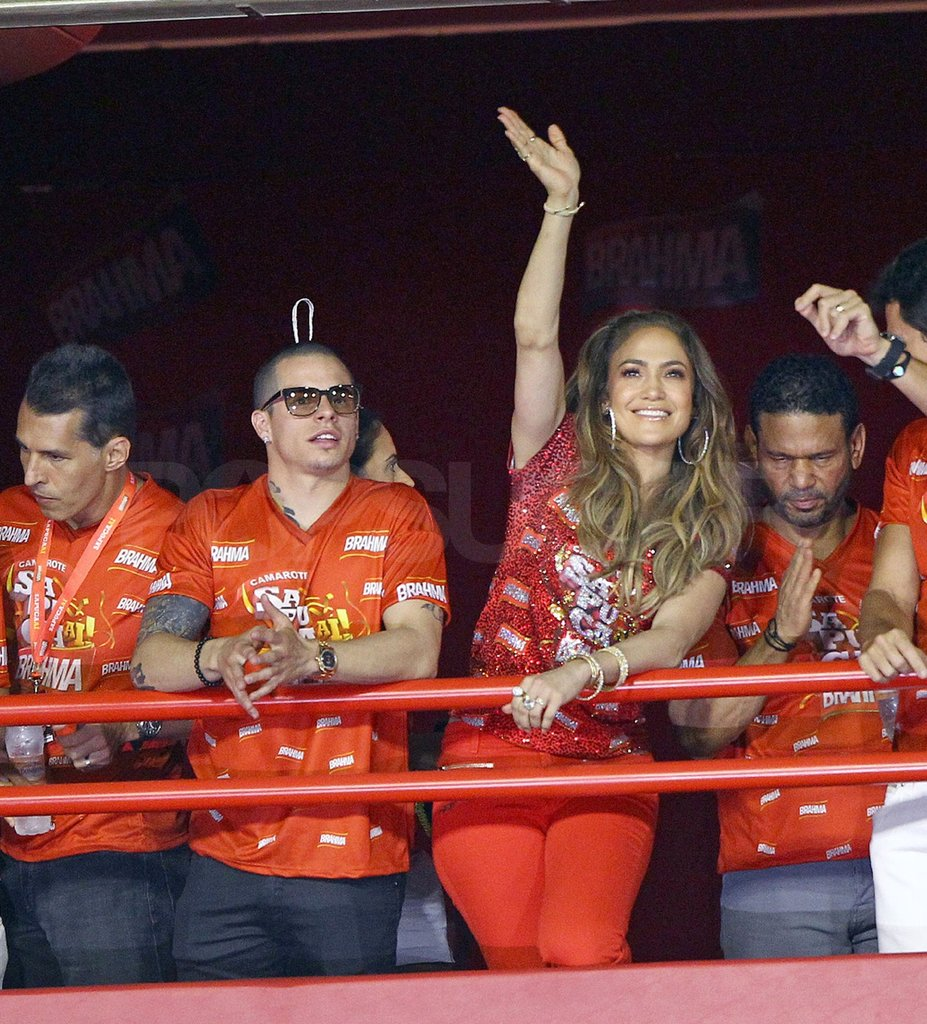 Jennifer Lopez wore all red.