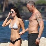 Megan Fox wore a mix-and-match bikini.
