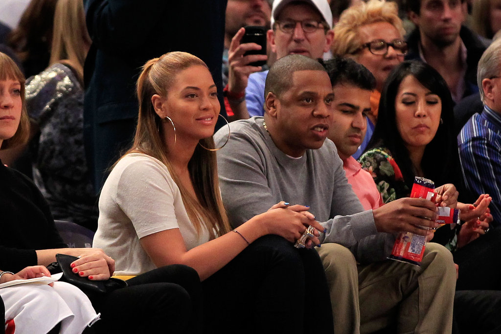 Jay-Z and Beyoncé watched the game.
