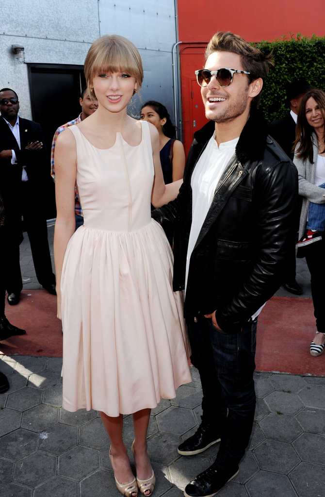 Taylor Swift and Zac Efron posed for a photo together.