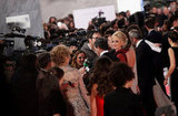 The stars faced the press at the Goya Awards in Madrid.