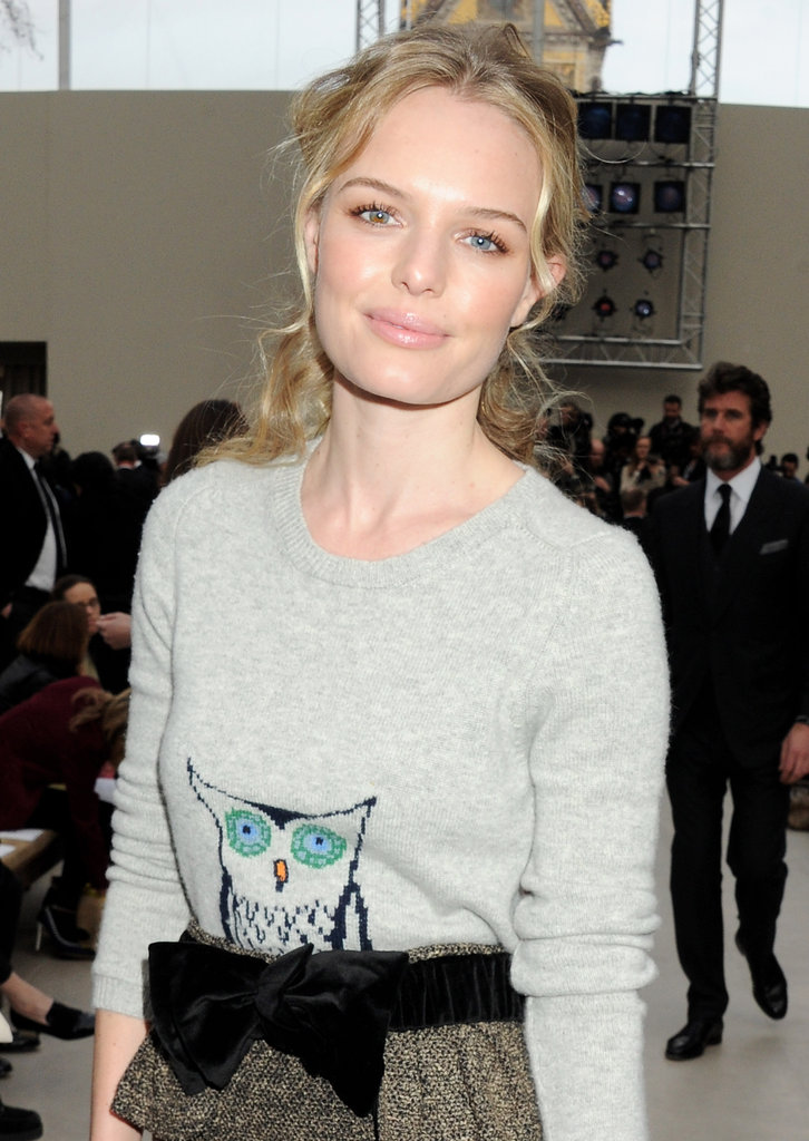 Kate Bosworth attended the Fall 2012 Burberry show.
