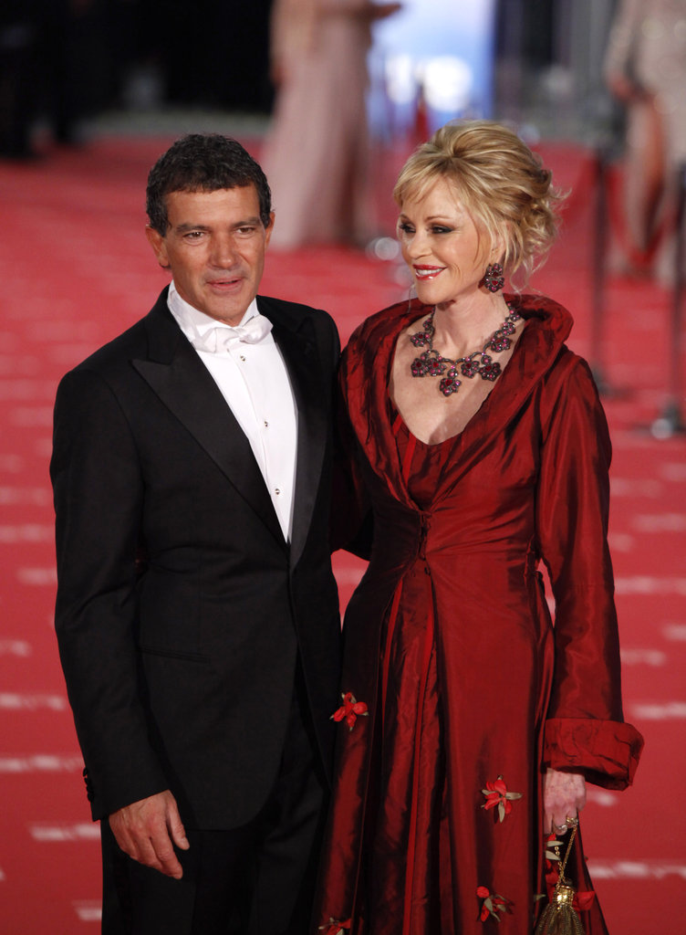 Antonio Banderas and Melanie Griffith looked stunning together at the award ceremony.
