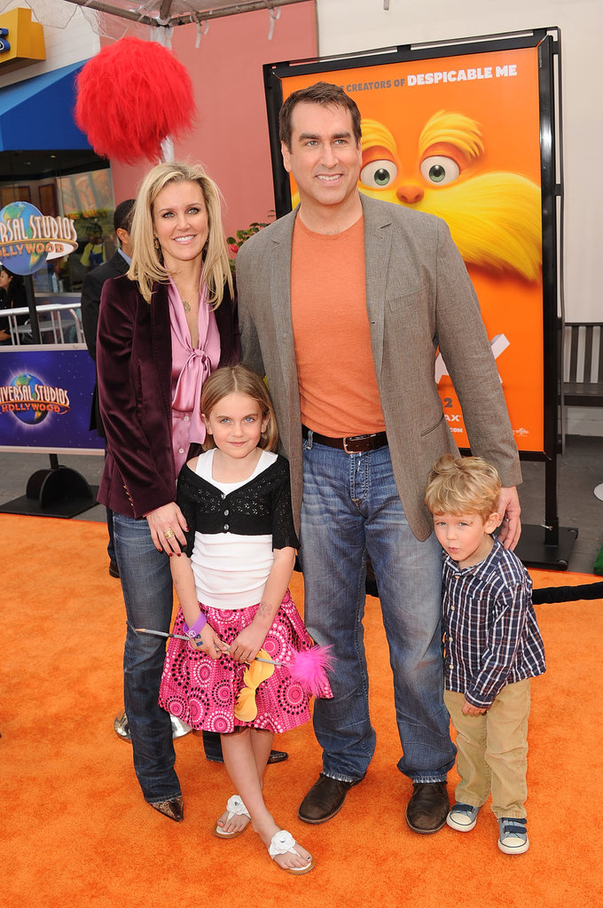 Rob Riggle brought some company along with him to The Lorax premiere.