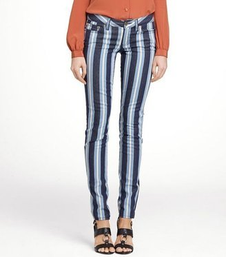 Tory Burch Super Skinny Stripe Jeans ($195)
