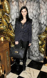 Leigh Lezark wore all-black separates to the Mulberry dinner.