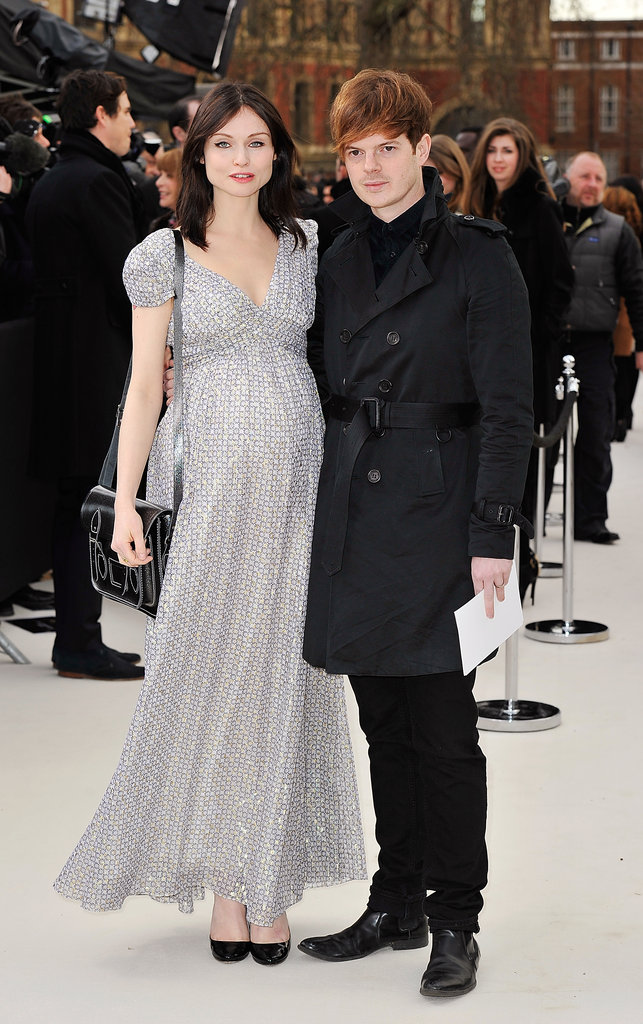 Sophie Ellis-Bextor and Richard Jones at Burberry