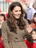 Kate Middleton, the Duchess of Cambridge, wore Orla Kiely .