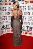 Rihanna's Givenchy dress had a slit up the back.