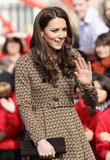 Kate Middleton address some youngsters.