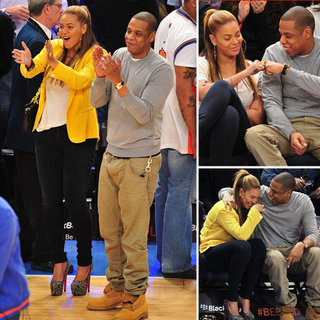 Beyonce and Jay-Z at Knicks Game for Jeremy Lin Pictures