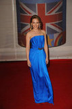 Kylie Minogue picked electric blue.