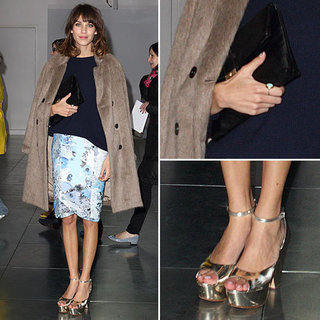 Alexa Chung at London Fashion Week 2012