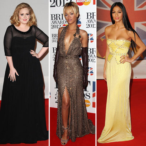 Rihanna and Adele at Brit Awards 2012 Pictures
