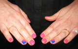 Pink-a-Blue Nails at Erdem