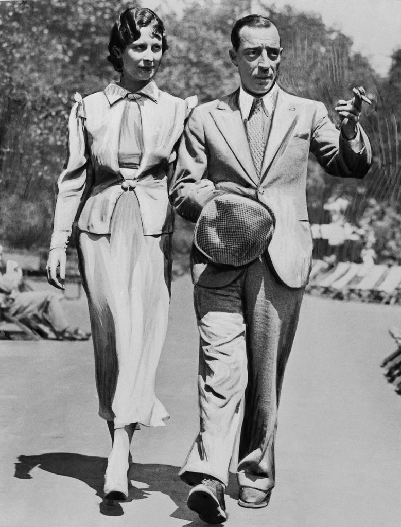 Buster Keaton and Mae Scriven