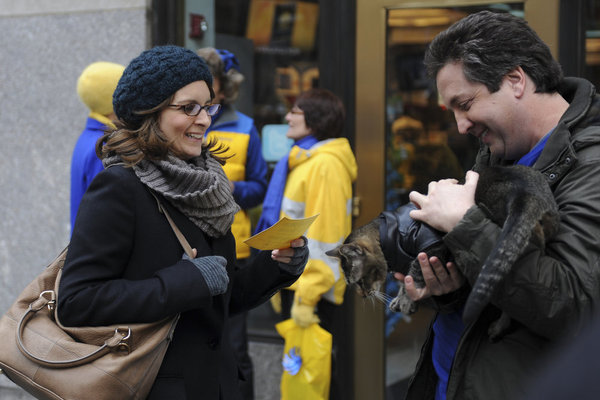 Tina Fey as Liz Lemon on 30 Rock.