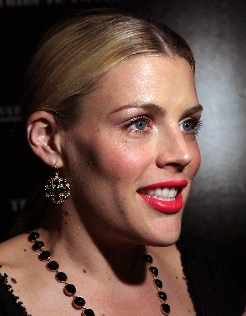 Busy Philipps wore her hair up at a tribute to Sir Charles Chaplin by Carmen and Dolores Chaplin.