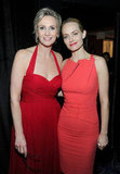 Jane Lynch and Amber Valletta posed backstage.