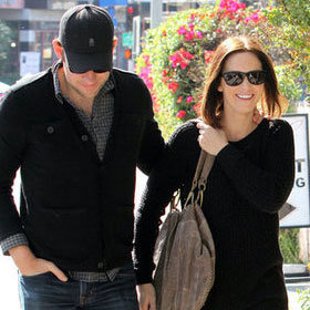 John Krasinski and Emily Blunt Lunch at Comme Ça Pictures