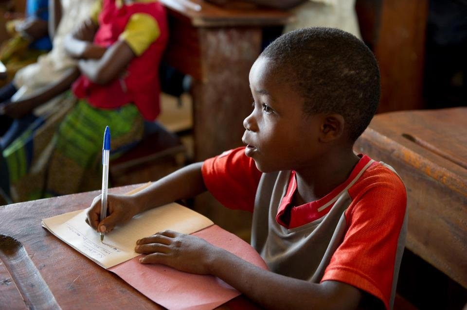 Kids are returning to school in the Congo.