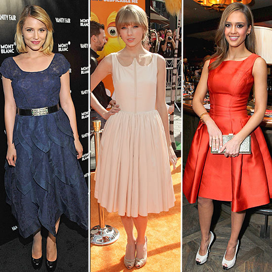 Trendspotting: Celebs Charm in Full-Skirted Dresses