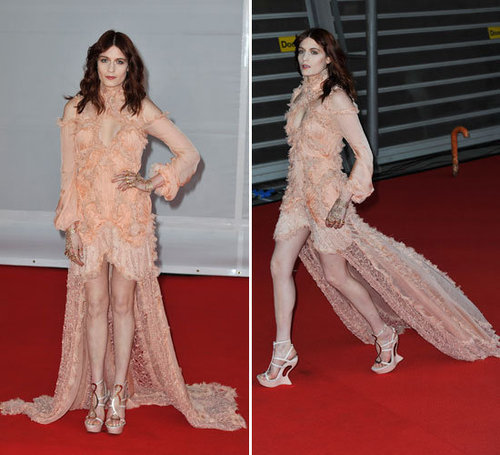 Florence Welch Dons Alexander McQueen Spring 2012 Collection Gown at the 2012 Brit Awards