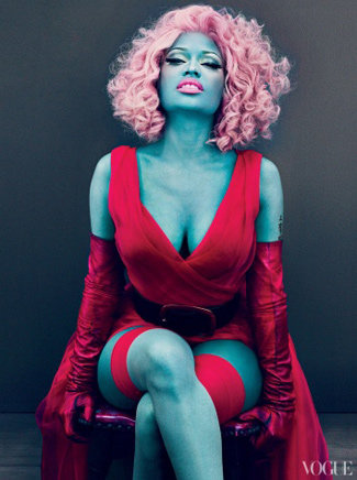 Nicki Minaj Gets a Smurf-Style Makeover in Vogue