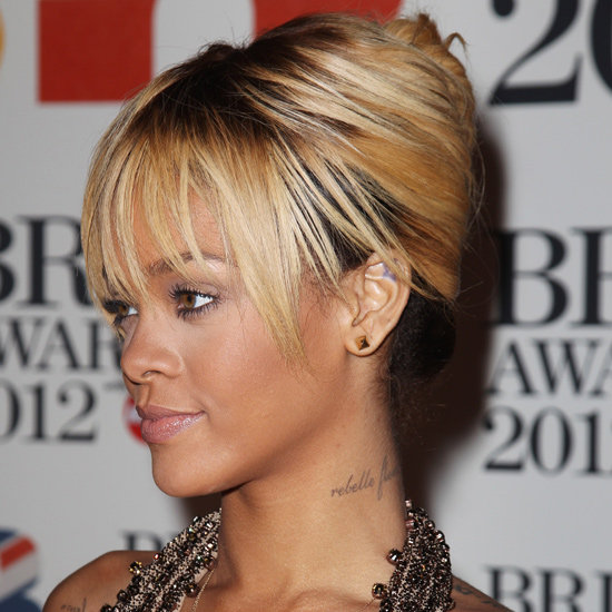 Rihanna's 2012 Brit Awards Hair and Makeup Look