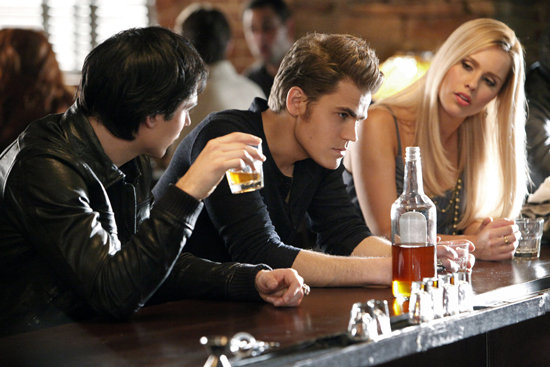Paul Wesley as Stefan, Ian Somerhalder as Damon, and Claire Holt as Rebekah in The Vampire Diaries. Photo courtesy of The CW