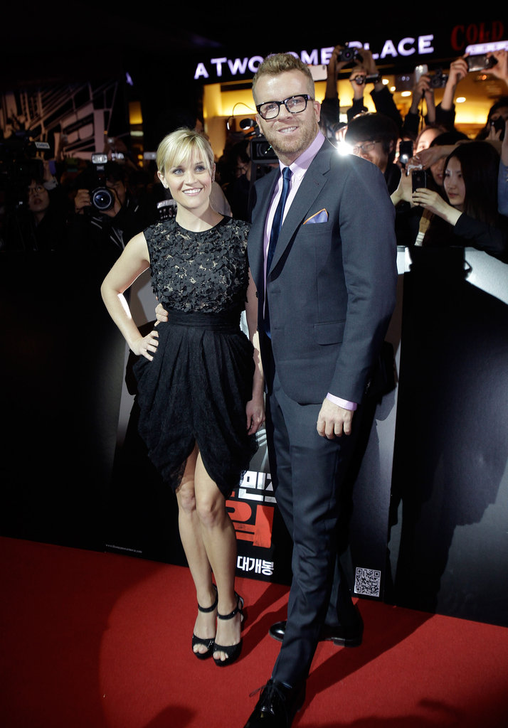 Reese Witherspoon hit the red carpet with director McG at the Seoul premiere for This Means War.