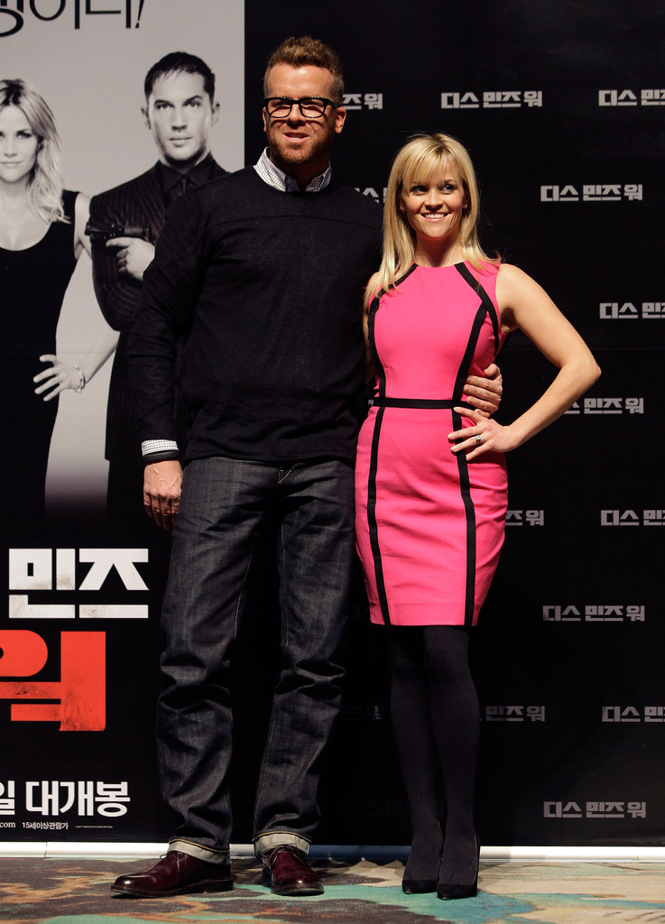 Reese Witherspoon joined director McG at the Seoul press conference for This Means War.