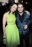 Kristin Davis and Emile Hirsch hung out at the Chateau Marmont.