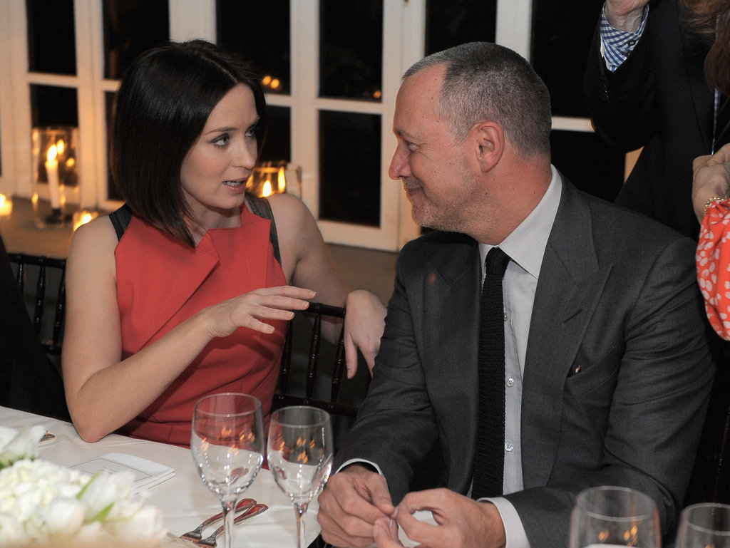 Emily Blunt chatted with Vanity Fair publisher Edward Menicheschi.
