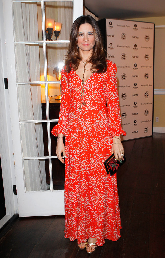 Livia Firth wore Beulah London for a bash at LA's Chateau Marmont.