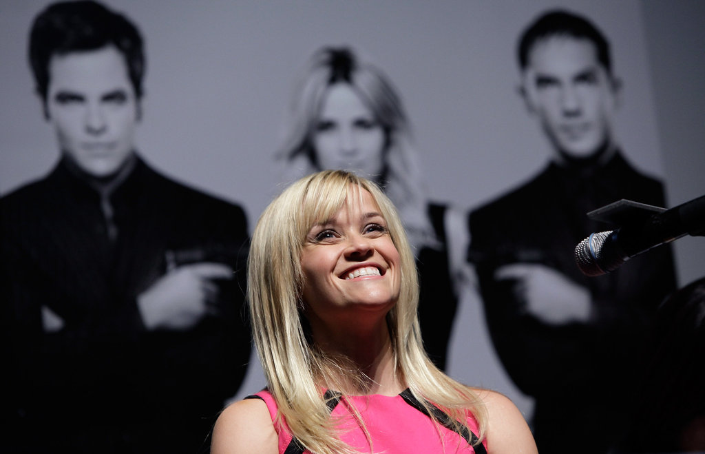 Reese Witherspoon attended a Seoul press conference.