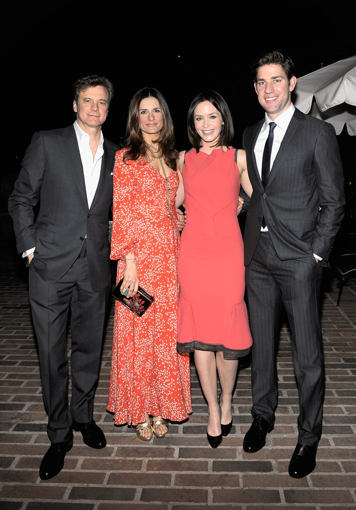 Colin Firth, Livia Firth, Emily Blunt, and John Krasinski hung out in LA.