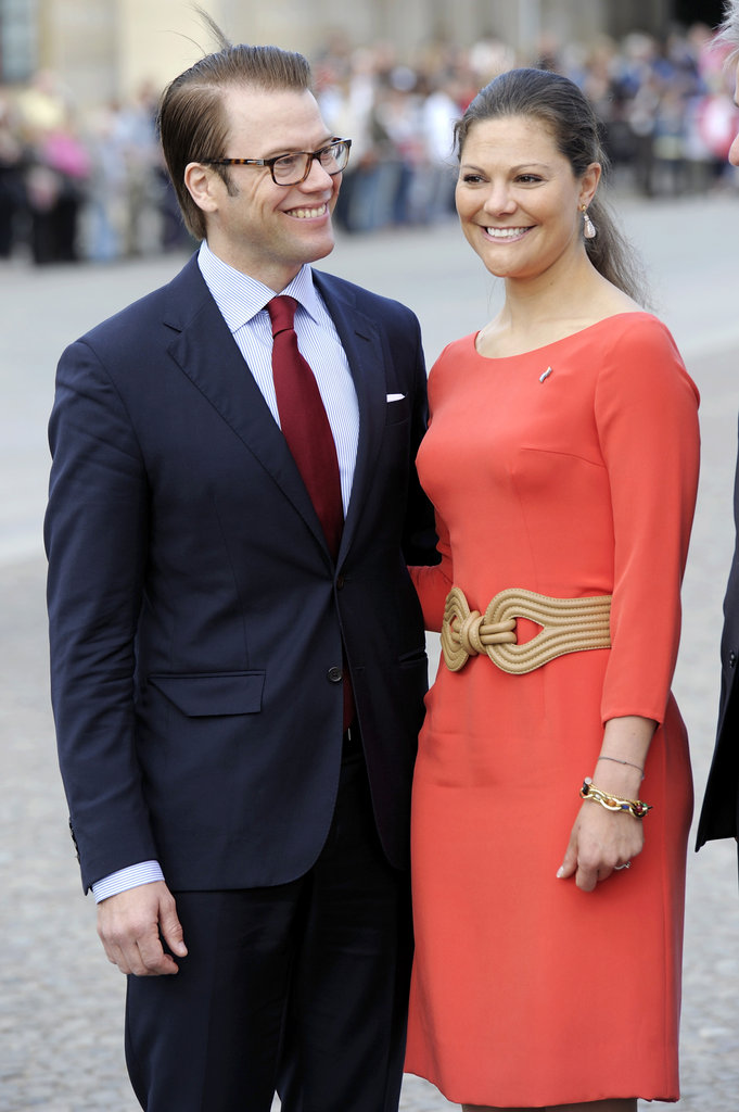 Crown Princess Victoria of Sweden and her husband Prince Daniel, Duke of Vastergotland, visit the Brandenburg Gate in Mary 2011.