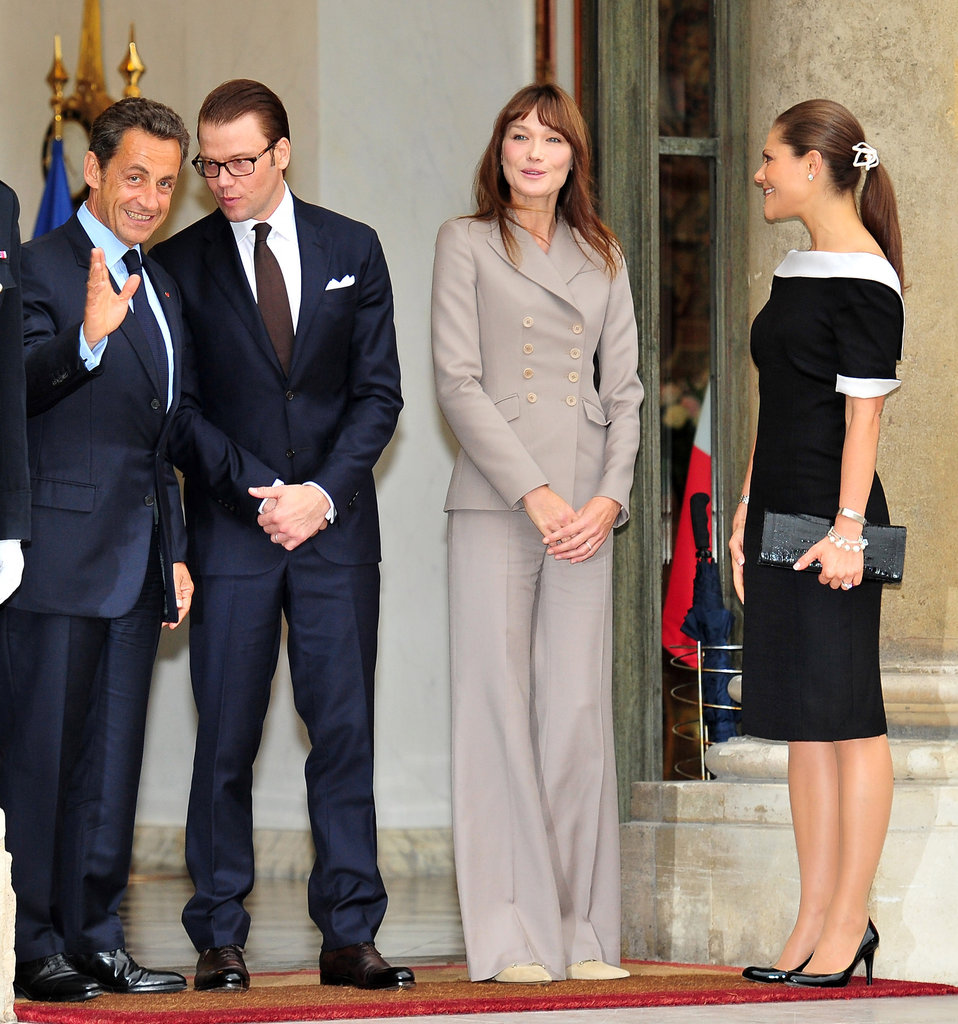 The two meet with the Sarkozys at the Elysée Palace in Paris.