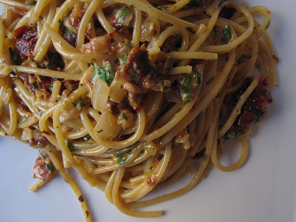 Sun-Dried Tomato and Bacon Spaghetti