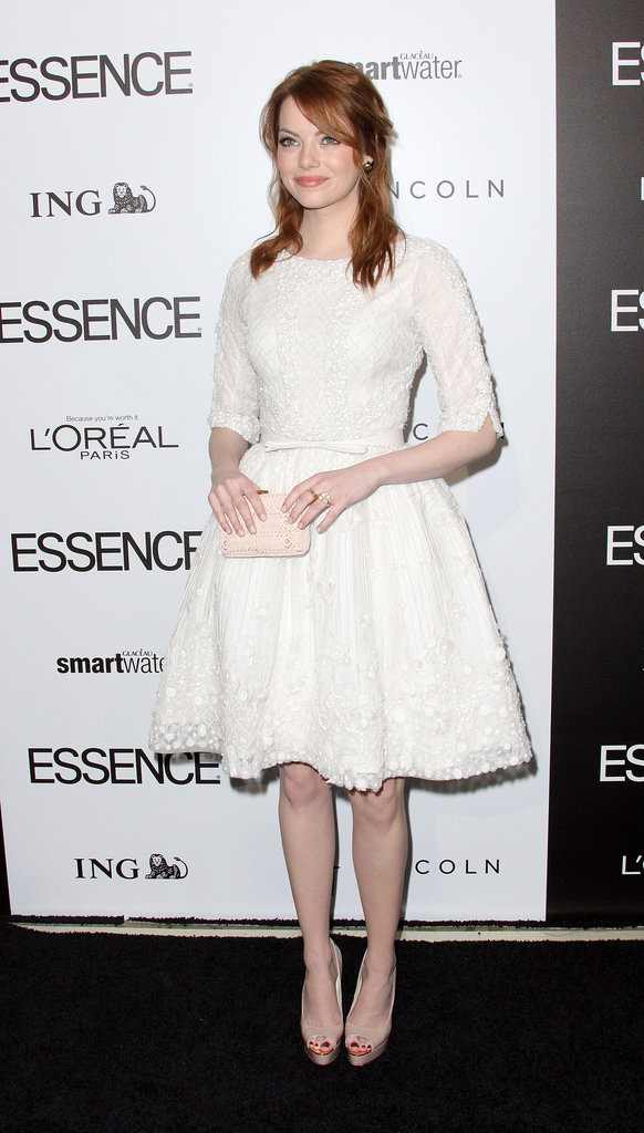Emma Stone in white.