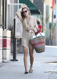 AnnaLynne McCord strolled along the street in Santa Monica.