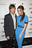 Ken Paves and Victoria Beckham posed together.