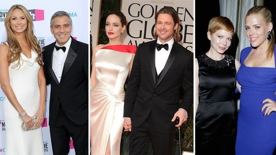 Video: 2012's Cutest Award Season Duos — Brad and Angelina, Michelle and Busy, and More!
