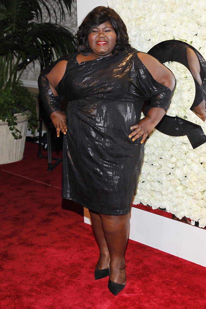 Gabourey Sidibe attended QVC's Buzz on the Red Carpet party and broadcast at the Beverly Hills Four Seasons Hotel.