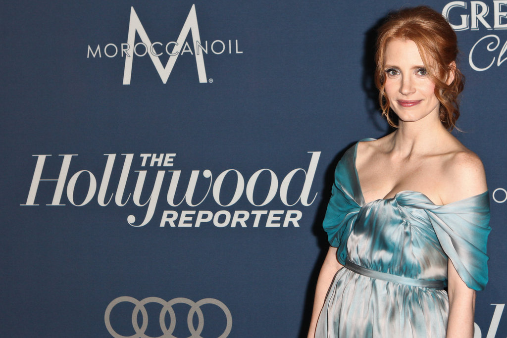 Jessica Chastain attended The Hollywood Reporter's pre-Oscars bash.