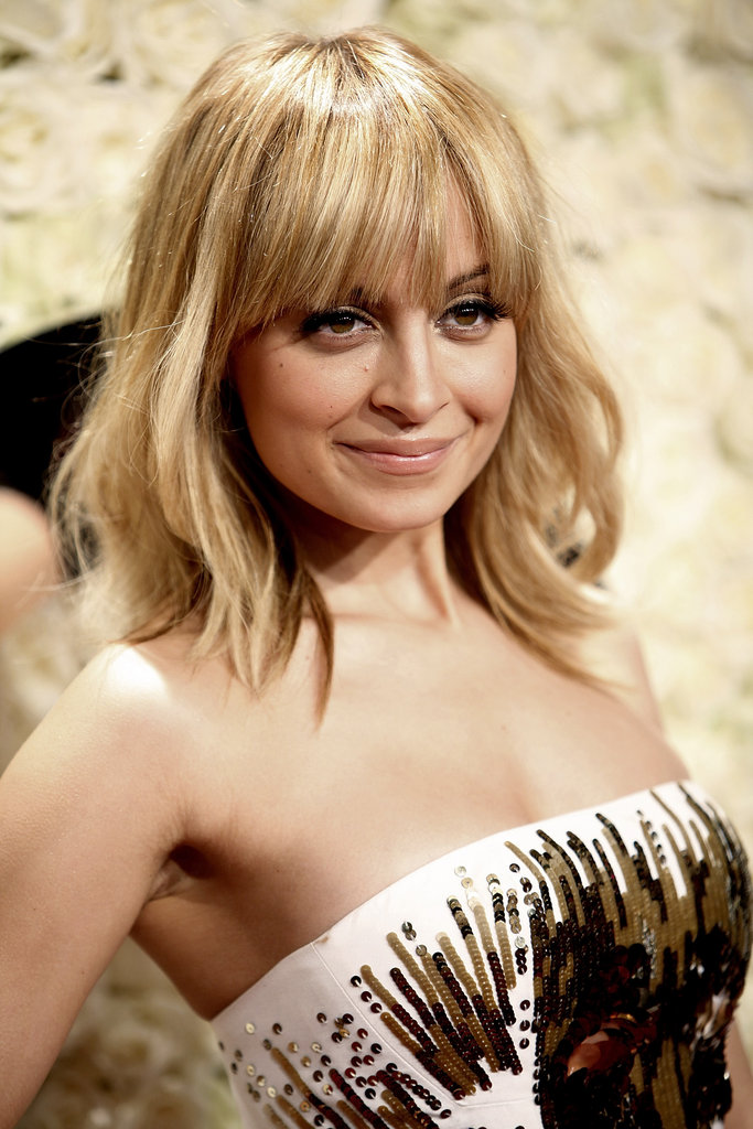 Nicole Richie rocked bangs to a QVC party.