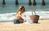 AnnaLynne McCord kept herself hydrated with water.