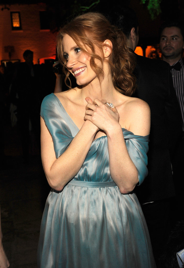 Jessica Chastain hung out at LA's Getty House.